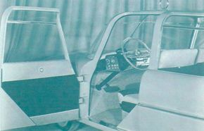 The Plainsman's simple interior was stylish enough and quite safety-minded with protrusion-free door panels and a compact control board set well forward out of harm's way. Seatbelts were conspicuously absent, though.