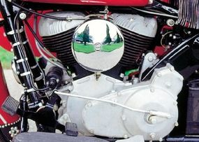 The Chief's 74-inch flathead engine was unchanged from its prewar design.
