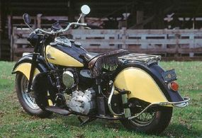 After the war, Indian dropped all its four-cylinder and smaller V-tinws in favor of the big V-twin Chief.