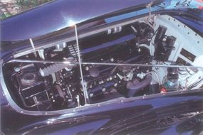 This particular car was retrofitted with a bigger engine that allowed for speeds of more than 100 mph.