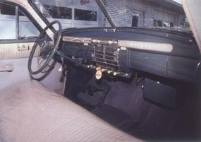 The heater and radio still work in this preserved 1947 Kaiser Special.