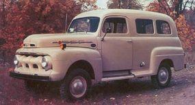 Marmon-Herrington created the four-wheel-drive F-Series Ranger, a panel truck turned station wagon.