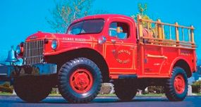 The 1948 Dodge Power Wagon could be equipped to perform a multitude of tasks; this one was able to fight fires in hard-to-access terrain.
