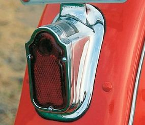 """The """"tombstone"""" taillight introduced in the 1940s was used on Harleys through 1954."""