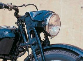 The Harley-davidson S-125's girder-style front fork was part of the original German DKW design.