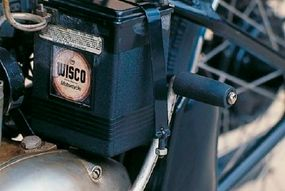 The hand clutch/foot shift was a first for Harley- Davidson street bikes.