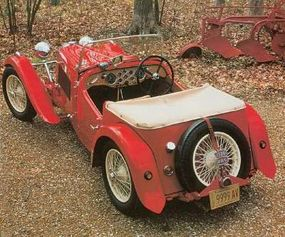 This long-stroke HRG 1500 roadster ran at Silverstone in 1949.