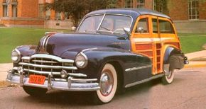 The 1948 Pontiac Streamliner Eight station wagon marked the final year of the woody station wagon for Pontiac. See more classic car pictures.