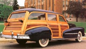 The 1948 Pontiac Streamliner Eight DeLuxe wagon was notably different from the 1947, unusual for a postwar car.
