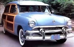 The Ford Mercury woody was named for the wood paneling on both sides of the wagon. See more classic car pictures.