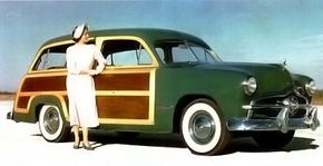 The new postwar Mercury wagon as pictured in the sales brochures.