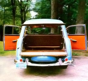 The woody wagons had ample space in the back for storage.
