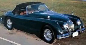 Larger 3.8-liter engine gave the XK-150S a formidable 265 horsepower. This early roadster dates from 1959 .