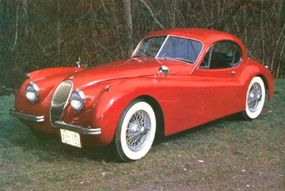 A fixed-head (closed) coupe rounded out XK-120 offerings in 1951 (shown here is a 1953 example).