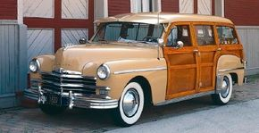 """The 1949 Plymouth """"woodie"""" wagon sold only 3,443 copies. See more pictures of Plymouth cars."""