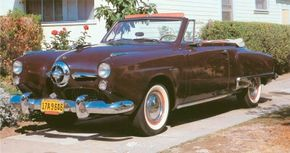 The Regal DeLuxe convertible filled out the 1950 Studebaker Commander line.