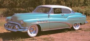 The sporty 1952 Buick Roadmaster Riviera hardtop attracted 11,387 buyers. See more classic car pictures.