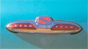 Dynaflow badge on an early '50s Buick Roadmaster.
