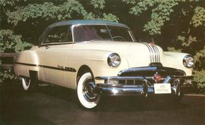 The Pontiac Catalina featured a toothy grille and silver stripes on the hood.