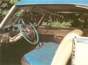 The Pontiac Catalina was upholstered in vinyl and leather.