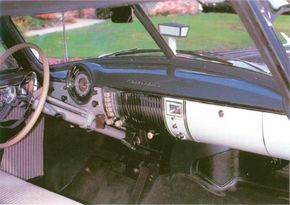 Deluxe interior of an early 1950s Chevrolet Bel Air.