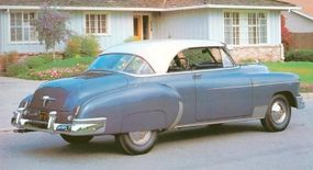 The 1950 Chevrolet Bel Air had chrome-framed side windows among other luxurious features.