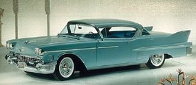 The 1958 Cadillac Series 62 hardtop featured an extended rear deck.