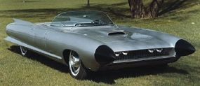 The futuristic 1959 Cadillac Cyclone show car had a bubble top and doors that slid open electronically.