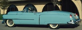 Cadillac produced a limited number of the flashy 1953 Cadillac Eldorado convertible.