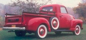 The 1950 GMC FC101 pickup was powered by a 228-cid ohv six rated at 96 horsepower, a step up from Chevy's 90-horsepower 216.5-cid engine.