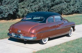 The 1950 Mercury coordinated interiors that matched the external theme.