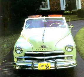 A cleaner grille was one of the small changes for the 1950 Plymouth.