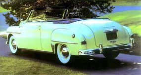 This 1950 Plymouth (owner Paul A. Leinbohm of NY) is probably the finest example anywhere of the 12,697 convertibles Plymouth produced that year.