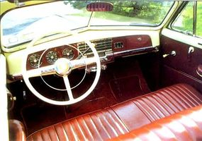 The Plymouth convertible interior was just as attractive as the exterior.