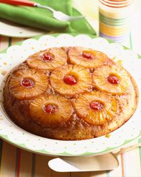 Pineapples lend a tropical, '50s-style touch to decorations, savory dishes and desserts, like Pineapple Upside-Down Cake.