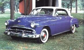 """Belvedere styling changed little for 1952, but new """"saddleback"""" two-toning freshened its appearance."""
