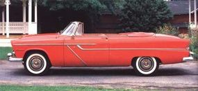 The line-leading Belvedere convertible came with the base V-8 at $2,351.