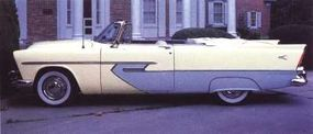 The 1956 convertible had fins and jazzier two-toning to dress up the 1955 body.