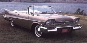 """""""Shark"""" fins and a low beltline made for a dashing 1957 convertible."""