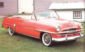 Although Belvedere competed with low-cost hardtops, it also offered a convertible, such as this 1954 model. See more classic car pictures.
