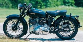 The HRD Series B Rapide's 50-degree V-twin doubled as a structural frame member
