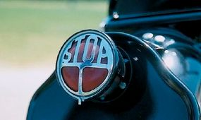 """The unique rear taillight featured a """"Stop"""" insignia."""