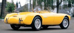 The sporty 1952 Siata 208S Spyder was a popular choice among race car drivers.