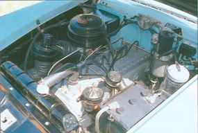 The Packard 250 convertible had the straight-eight engine that powered the 300.