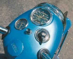 The Thunderbird's speedometer went to 120 mph.