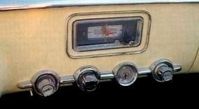 The dash of the Dodge Firearrow.