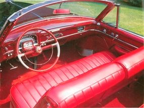 The engine of 1953 Cadillac Series 62 convertible cranked out 210 horsepower.