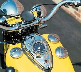 Two fuel-filler caps and one for oil were part of the Indian Chief rider's view.