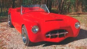 """B. Robert """"Woody"""" Woodill decided to build his own car when a Jaguar seemed too expensive. See more classic car pictures."""