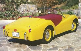 """The """"long door"""" TR2 is so named because the doors extend to the very edge of the car."""